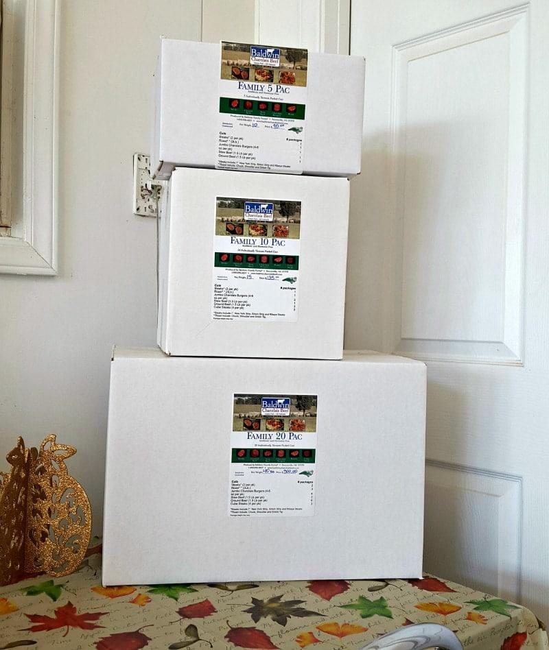 Baldwin Charolais Beef Boxes
