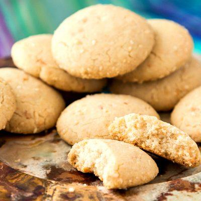 "Ghoriba Bahla Recipe | Moroccan ""Silly"" Shortbread Cookies for #ProgressiveEats"