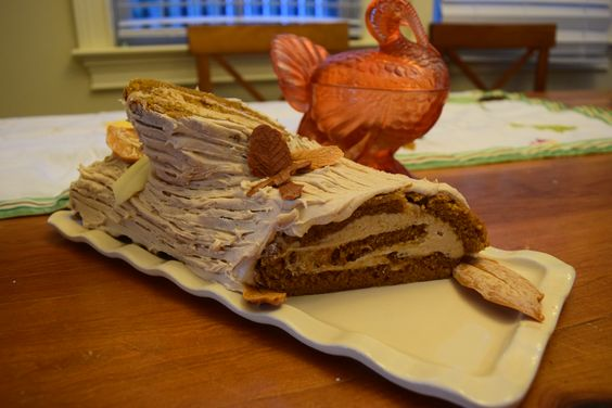 Delicious Thanksgiving Dessert Recipes: Pumpkin Roll with Caramel Frosting from Gluten Glory