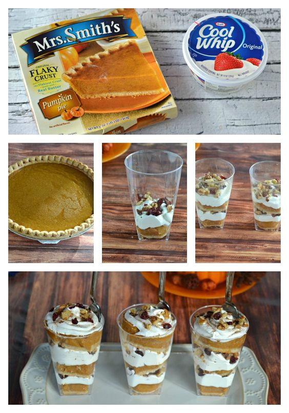 Delicious Thanksgiving Dessert Recipes: Pumpkin Pie Parfaits from Hezzi D's Books and Cooks