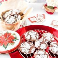 Chocolate Peppermint Crinkle Cookies (Gluten-Free)