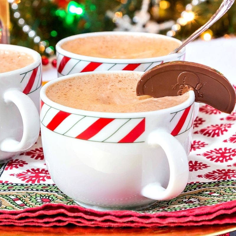 Orange Chocolate Drinking Chocolate requires just 2 ingredients (plus salt) for one of the most decadent hot chocolate recipes around. You're going to love this rich, sweet treat! | pastrychefonline.com