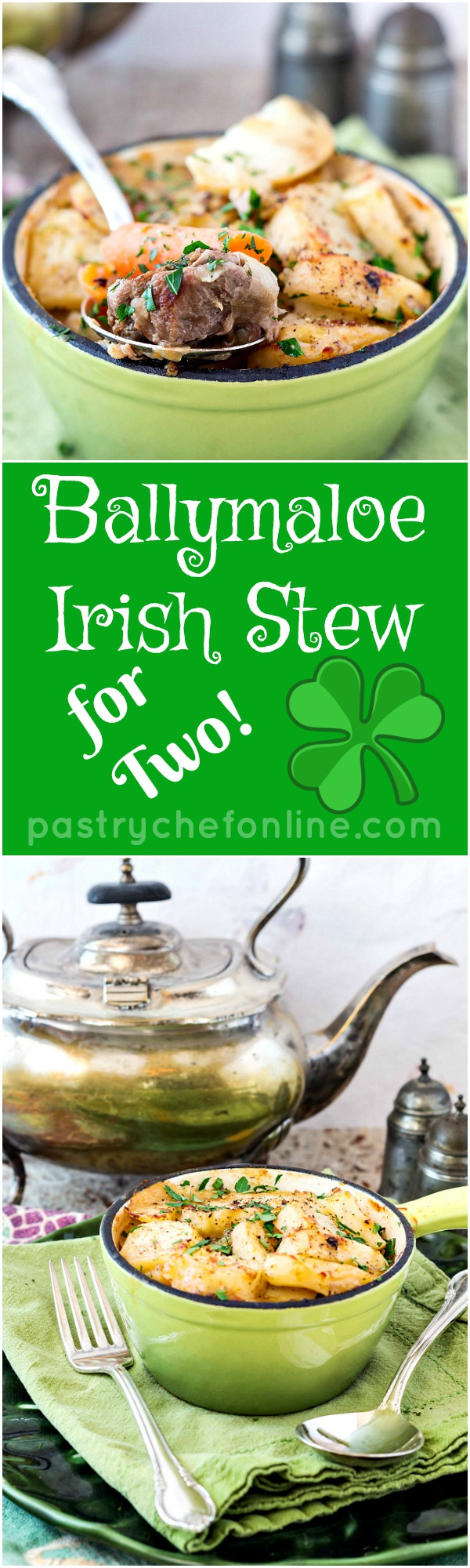 Ballymaloe Irish Stew for Two (or Four) is made of simple ingredients flavored simply. The result is a rich, satisfying stew perfect for your St. Patrick's Day dinner or any time you want an easy stew recipe. | pastrychefonline.com