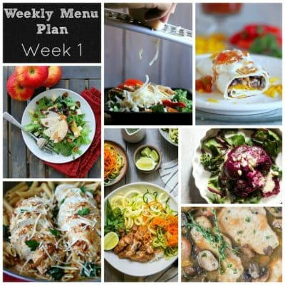 """Dinner Divas"" Weekly Meal Plan: Week One"