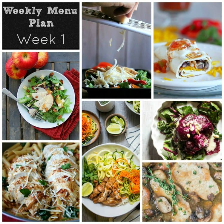dinner divas weekly meal plan week 1 5 main 2 extras