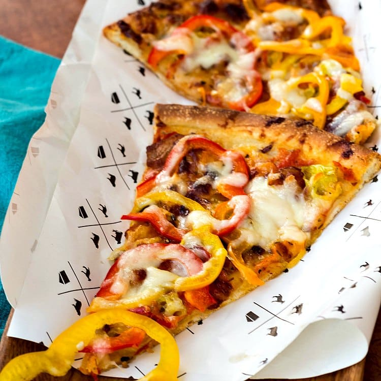 Bacon and Pickled Pepper Pizza from Pastry Chef Online