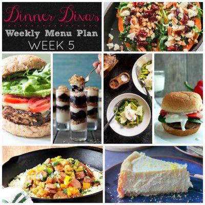 Dinner Divas Weekly Meal Plan, Week Five