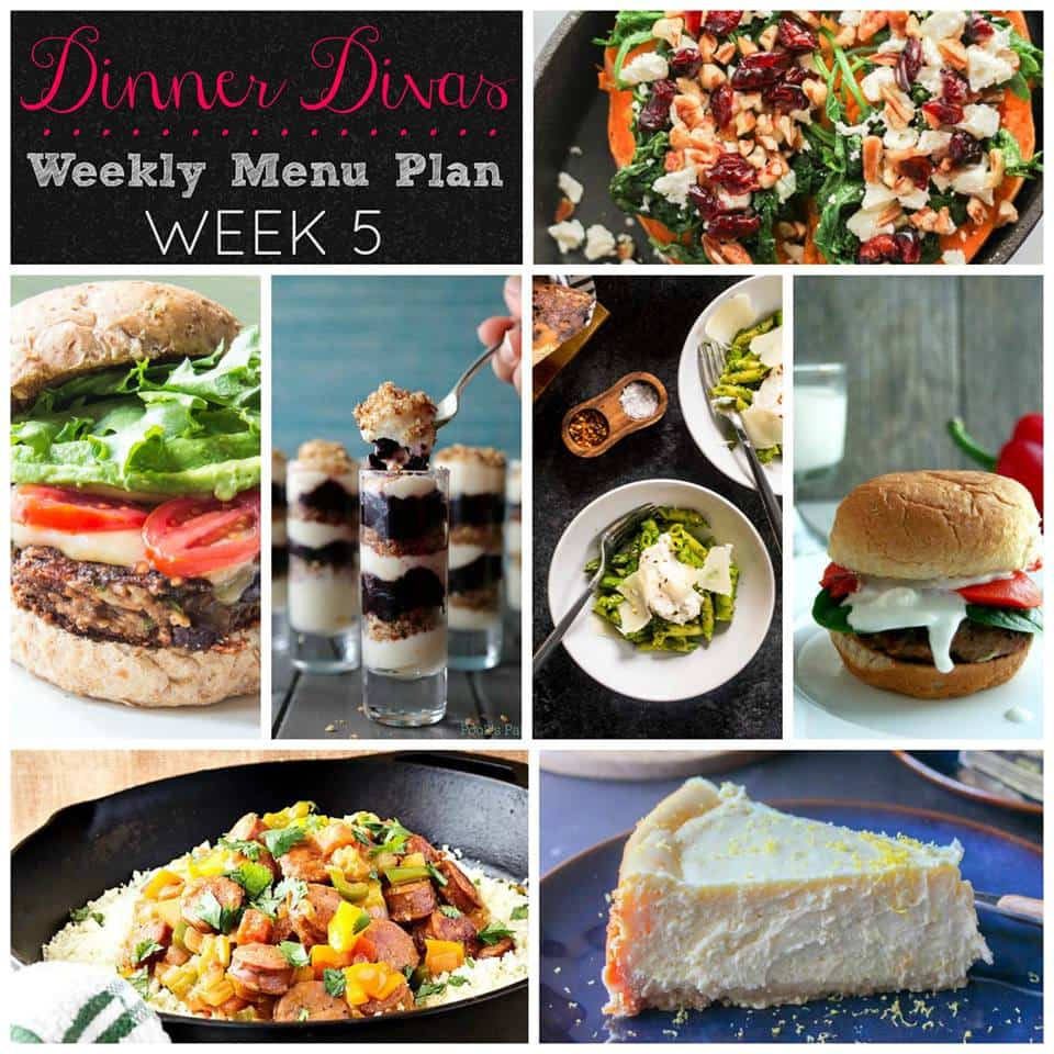 Dinner Divas Weekly Meal Plan, Week Five. Enjoy!
