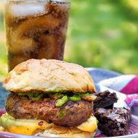 Bloody Mary Meatloaf Burger | A TV Dinner-Inspired Burger