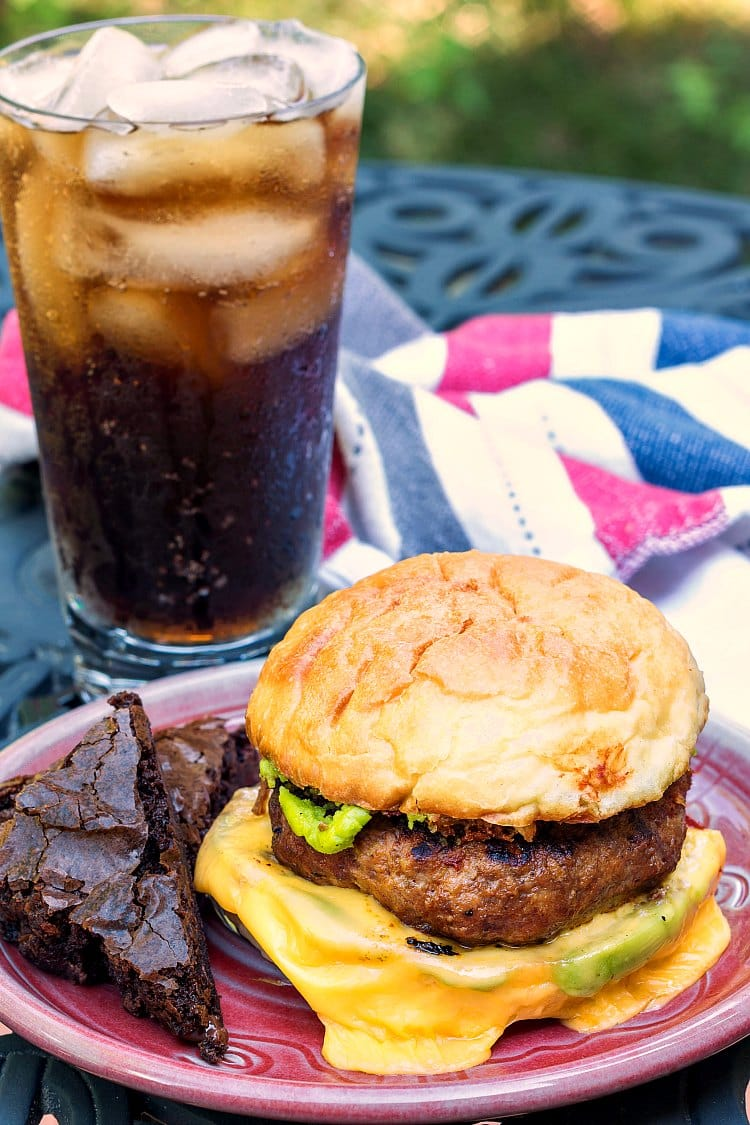 The Bloody Mary Meatloaf Burger is a celebration of #BurgerMonth and an old-school TV dinner. I tried to put all the components of a TV dinner in my burger. I think I succeeded deliciously. Enjoy! | pastrychefonline.com