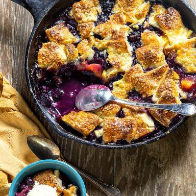 Blueberry Peach Pandowdy | Easy, Old-School Fruit Dessert