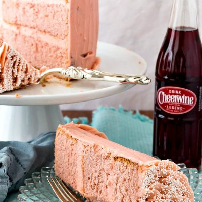 Cheerwine Layer Cake with Easy Cheerwine Marshmallow Buttercream