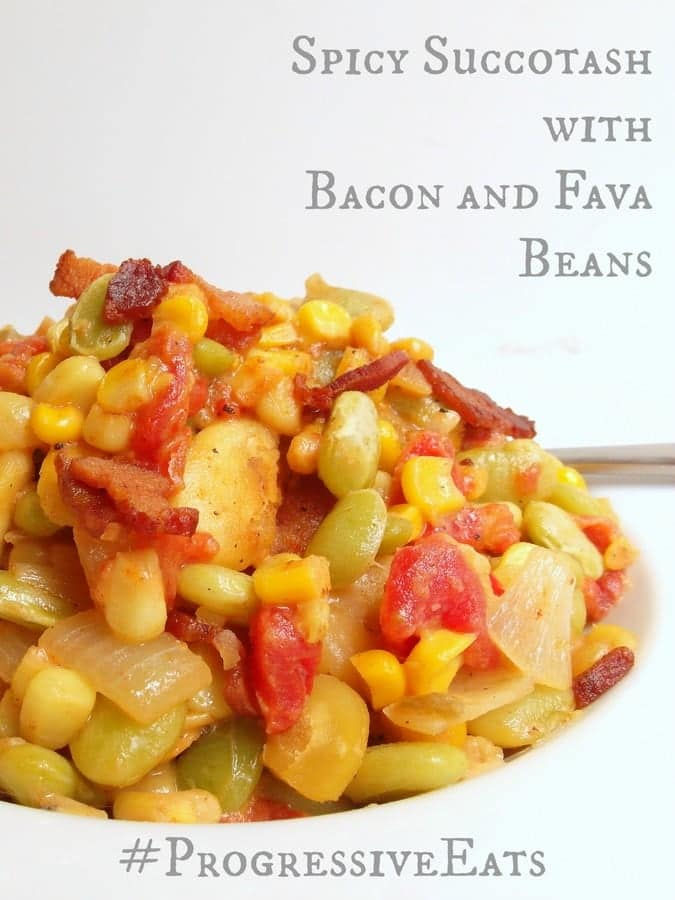 Spicy Succotash with Bacon and Fava Beans