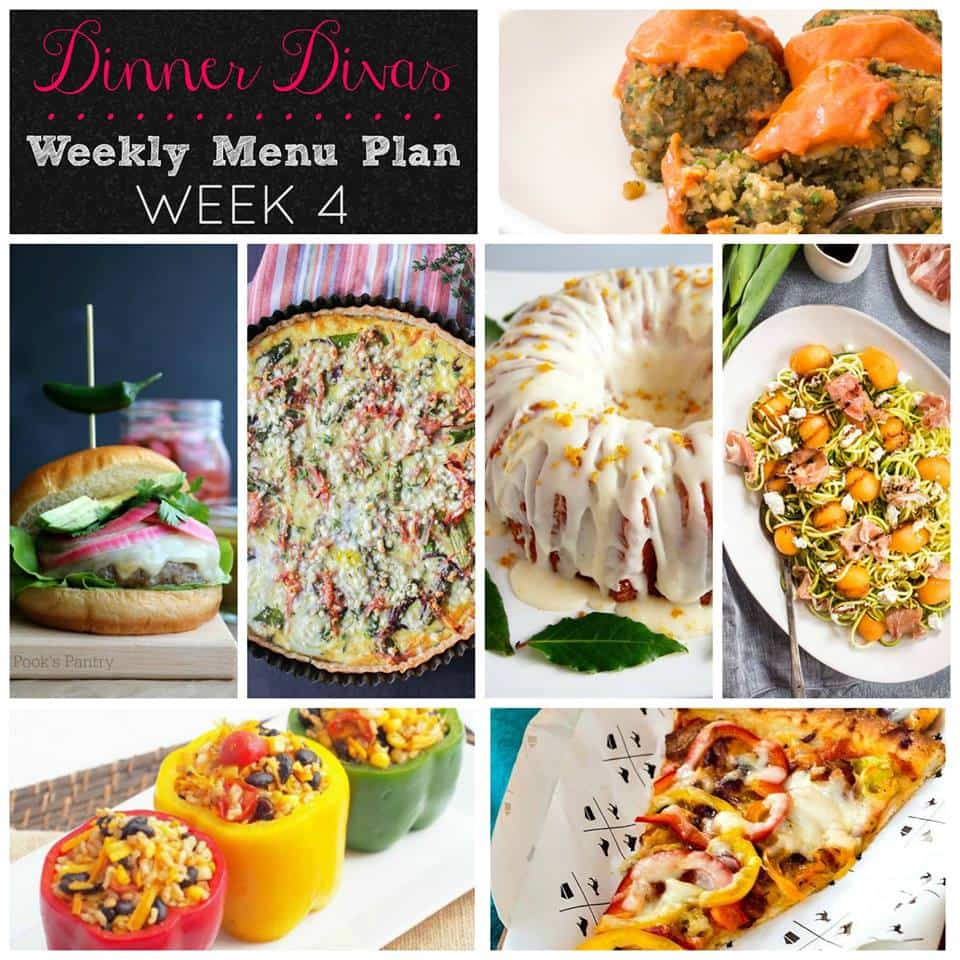 Dinner Divas Weekly Meal Plan, Week Four. Five Mains and Two Sides. Come and get 'em!