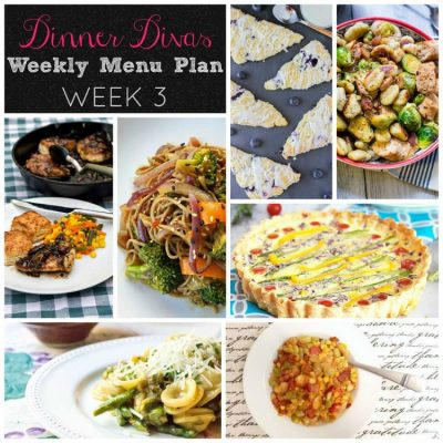 Dinner Divas Weekly Meal Plan: Week Three