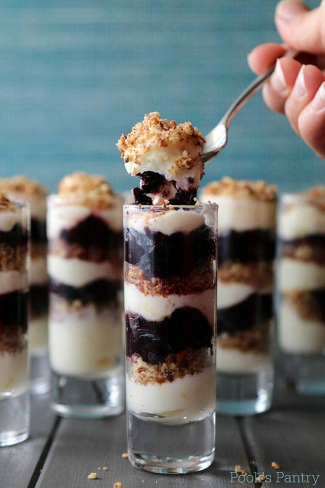 No-Bake Blueberry Lemon Cheesecake Parfaits