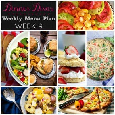 Dinner Divas Weekly Meal Plan Week 9 | 5 Mains, 2 Extras