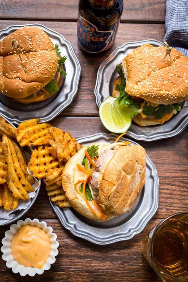 Pork Banh Mi Burgers