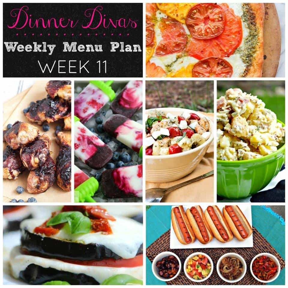It's Dinner Divas weekly meal plan time again! This time, we're sharing red, white, & blue recipes perfect for your 4th of July celebration! Enjoy!
