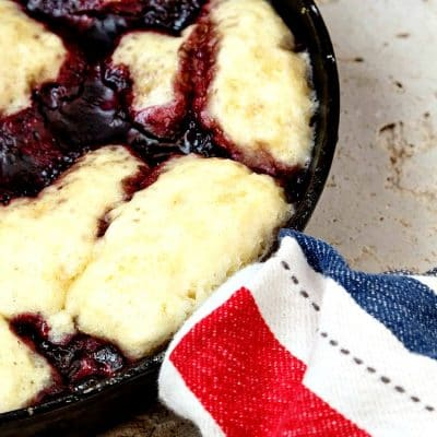 Cherry Blueberry Slump | No Need to Heat the Oven for Cobbler!