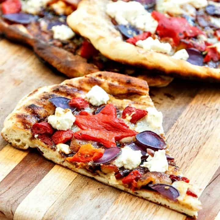 Grilled Patriotic Pizza