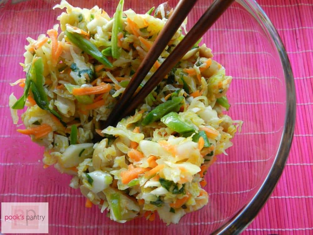 thai chicken salad with spicy chili lime dressing