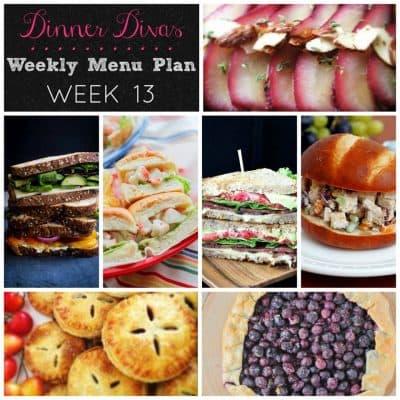 Dinner Divas Weekly Meal Plan Week 13 | Sandwiches & Picnic Food