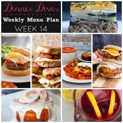 Dinner Divas Weekly Meal Plan, Week 14 | Breakfast for Dinner