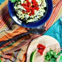 Mexican Pasta Salad with Green Goddess Dressing