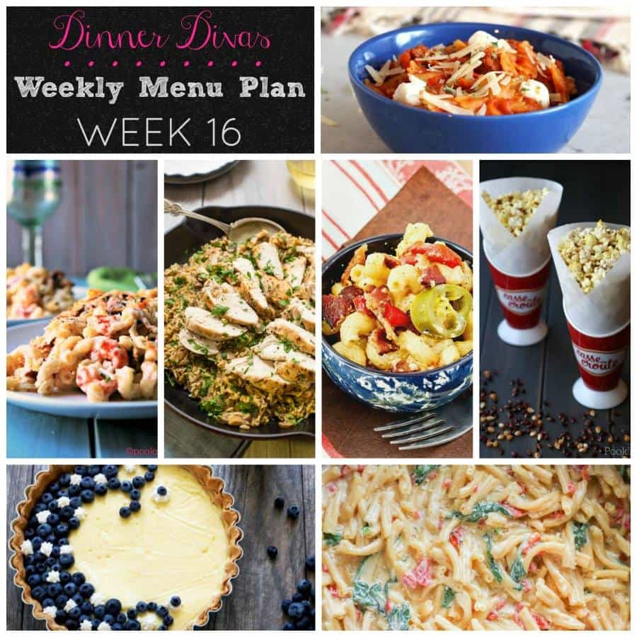 Dinner Divas' Weekly Meal Plan, Week 16: 1 Pot 1 Pan Meals