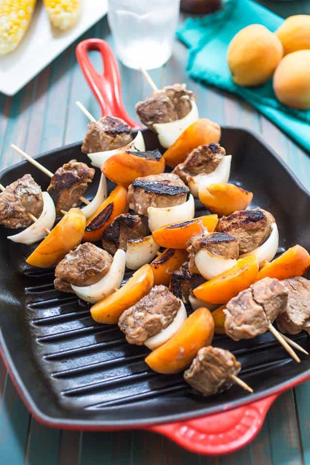 pork and apricot kabobs