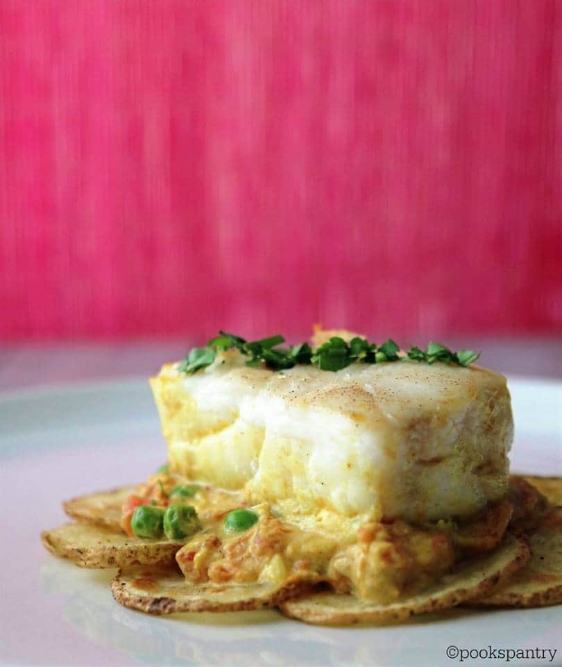 corvino with idaho potatoes and coconut curry