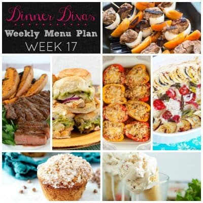 Dinner Divas Weekly Meal Plan, Week 17 | 5 Mains, 2 Extras