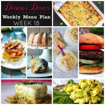 Dinner Divas Weekly Meal Plan, Week 18 | 5 Mains, 2 Sides