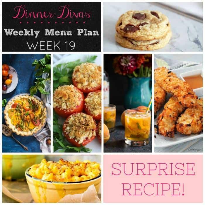 Dinner Divas Weekly Meal Plan, Week 19