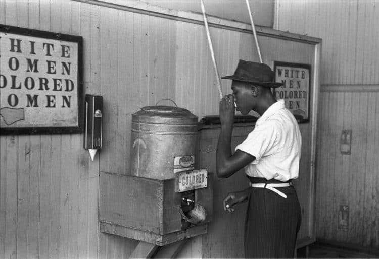 Segregated water fountains and restrooms were the norm and an outward sign of the institutionalized racism of the south.