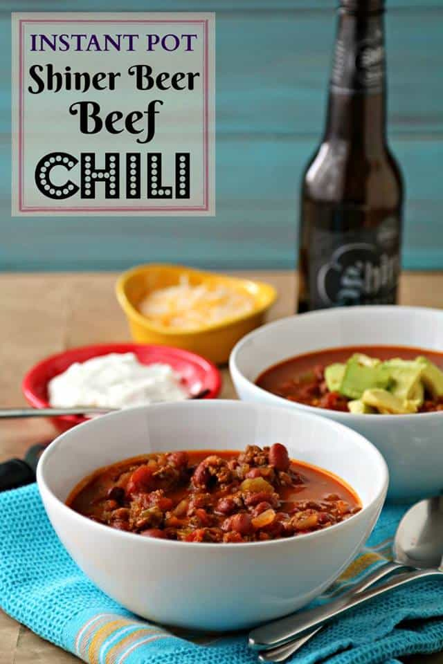 Instant Pot Shiner Beer Beef Chili
