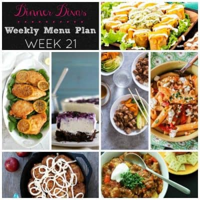Dinner Divas Weekly Meal Plan, Week 21 | 5 Mains, 2 Extras