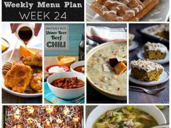 Dinner Divas Weekly Meal Plan, Week 24 | 5 Mains, 2 Extras
