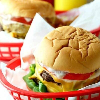 Double Polar Burger with Everything   Progressive Eats