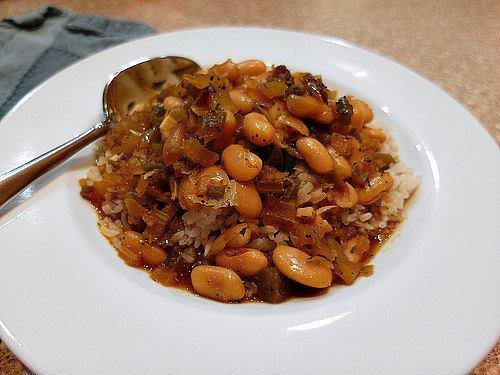 vegan creole white beans