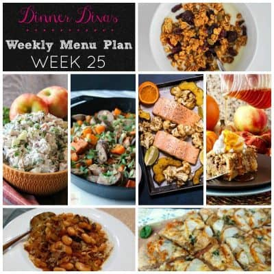 Dinner Divas Weekly Meal Plan, Week 25 | 5 Mains, 2 Extras