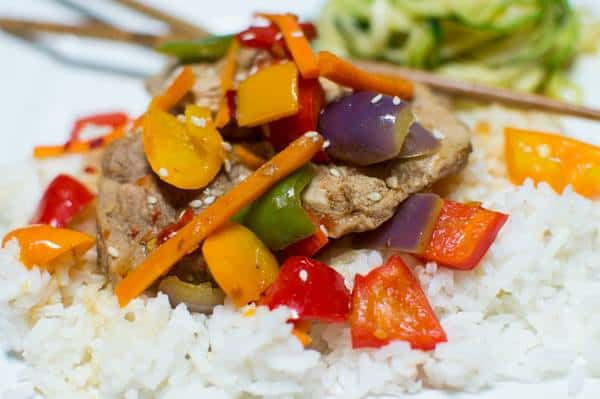 North Carolina Pork & Five Pepper Stir-Fry from Life of a Ginger