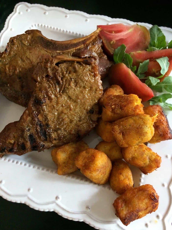 molasses and mustard marinated pork chops from Heidi Billotto Food