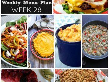 Dinner Divas Weekly Meal Plan, Week 28 | 5 Mains, 2 Extras