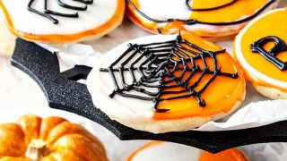 Black and White Cookies for Halloween