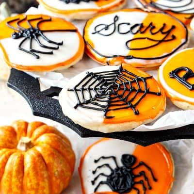 Black and White Cookies for Halloween | Big, Soft Cookies You'll Love