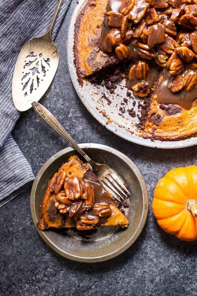 Bourbon brownie pumpkin pie