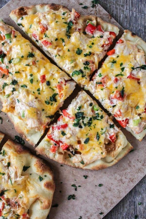 Red Chile Chicken Flatbread Pizza