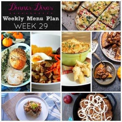 Dinner Divas Weekly Meal Plan, Week 29 | 5 Mains, 2 Extras
